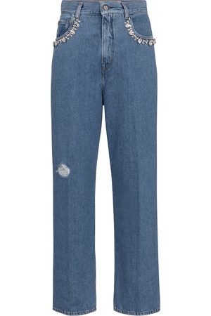 Golden Goose Kim embellished straight jeans