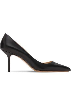 Francesco Russo Zapatos De Tacón De Piel 75mm
