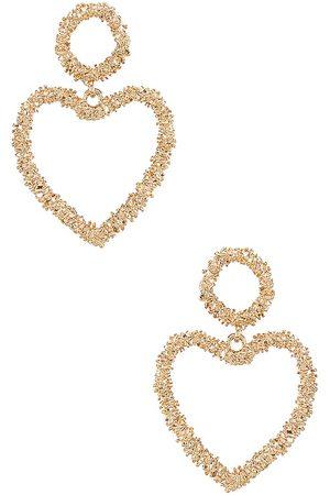 Ettika Pendientes de lágrima heart en color oro metálico talla all en - Metallic Gold. Talla all.