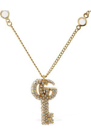 GUCCI Collar Con Colgante De Llave Con Logo Y Cristales