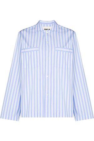 Tekla Mujer Pijamas - Camisa de pijama a rayas