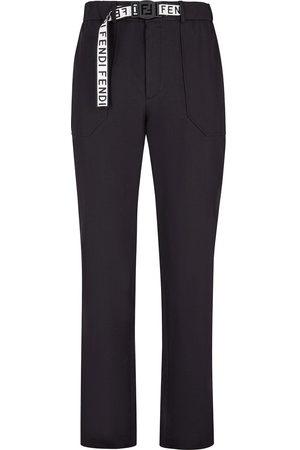 Fendi Hombre Pantalones y Leggings - Pantalones con cinturón y logo