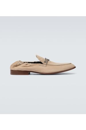 Lanvin Hombre Mocasines - Suede loafers with metal detail
