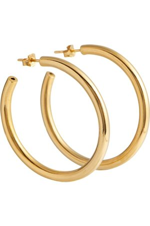 Tilly Sveaas Mujer Aretes - Exclusive to Mytheresa – Large 18kt gold-plated hoop earrings