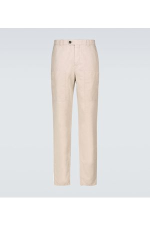 Brunello Cucinelli Linen and cotton cargo pants