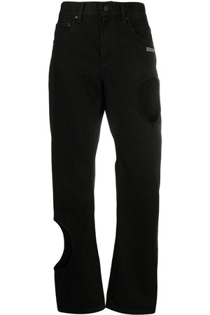Off-White Jeans estilo baggy con aberturas