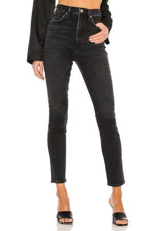 AGOLDE Pinch waist skinny en color negro talla 23 en - Black. Talla 23 (también en 24, 25, 26, 27, 28, 29, 30, 31, 32, 33, 34).