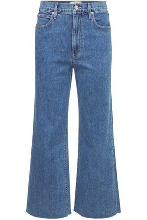 "SLVRLAKE Jeans Anchos Cropped ""grace"" Con Cintura Alta"