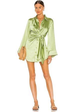 Song of Style Vestido marta en color verde talla M en - Green. Talla M (también en XXS, XS, S).