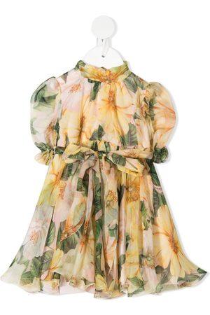 Dolce & Gabbana Vestido de seda con estampado floral
