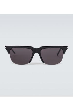 Saint Laurent Hombre Lentes de sol - Square metal and acetate sunglasses