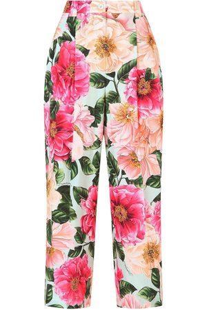 Dolce & Gabbana Pantalones capri con estampado floral