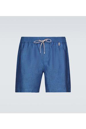 Loro Piana Bay Sprint linen shorts