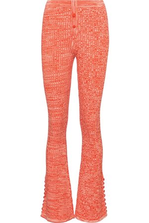 LIVE THE PROCESS Mujer Acampanados - Marl ribbed-knit flared pants
