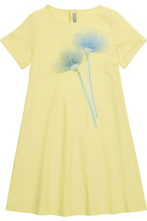 Il gufo Mujer Casuales - Embroidered cotton jersey dress
