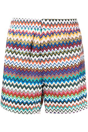 Missoni Shorts de playa con estampado en zigzag