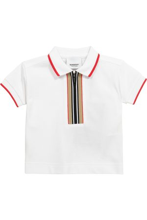 Burberry Polos - Baby Icon Stripe cotton piqué polo shirt