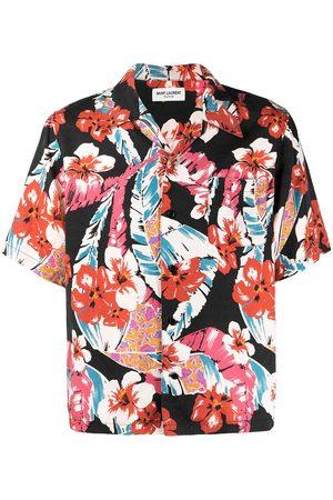 Saint Laurent Hombre Camisas - Camisa con estampado hawaiano