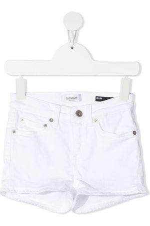 Dondup Niña De mezclilla - Shorts de mezclilla con borlas en el dobladillo
