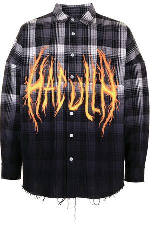HACULLA Hombre Camisas - Camisa con logo y motivo de llamas