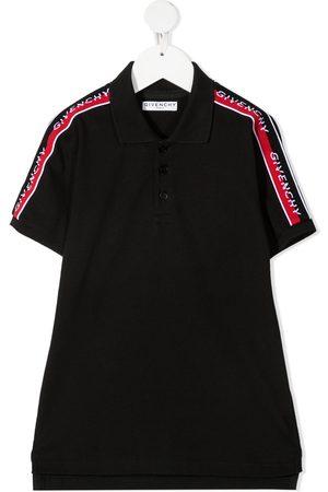 Givenchy Niño Polos - Playera tipo polo con franjas del logo