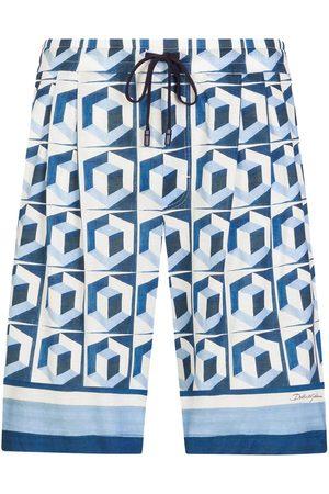 Dolce & Gabbana Hombre Bermudas - Shorts con cordones en la pretina
