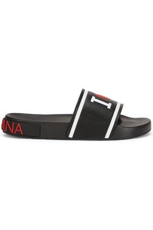 Dolce & Gabbana Mujer Flip flops - Sandalias con logo en relieve