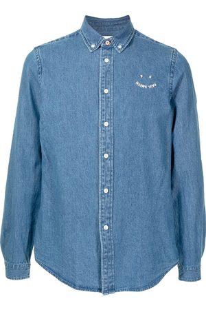 Paul Smith Hombre De mezclilla - Camisa de mezclilla con logo bordado