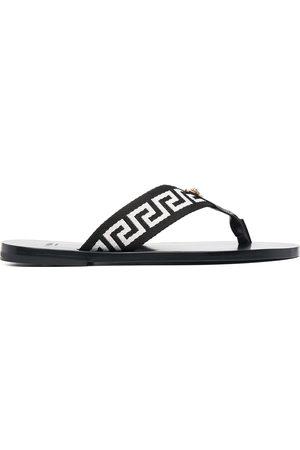 VERSACE Hombre Flip flops - Flip flops con motivo Greca
