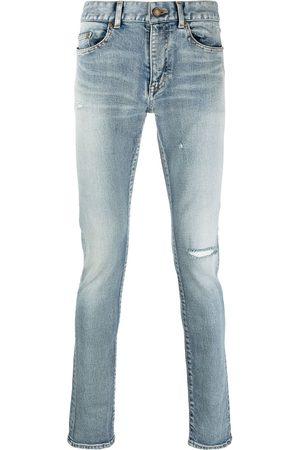 Saint Laurent Skinny jeans con detalles envejecidos