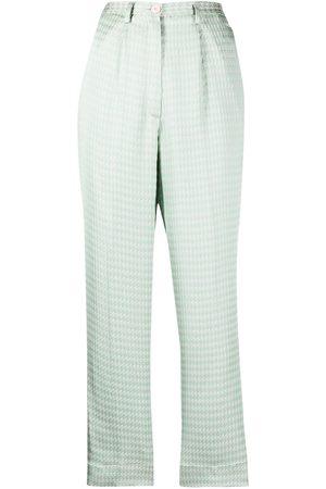 FORTE FORTE Mujer Capri o pesqueros - Pantalones capri con motivo pied de poule