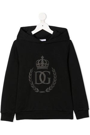 Dolce & Gabbana Niño Con capucha - Hoodie con distintivo estampado