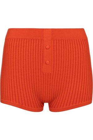 LIVE THE PROCESS Mujer Shorts - Ribbed-knit shorts