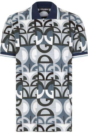 Dolce & Gabbana Playera tipo polo de piqué con estampado DG