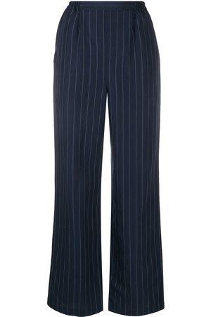 12 STOREEZ Mujer De vestir - Pantalones de vestir a rayas diplomáticas