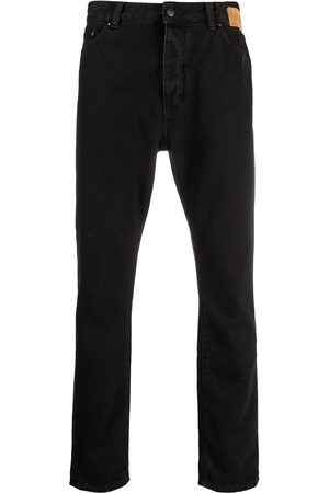 Palm Angels Hombre Skinny - Curved logo print slim-fit jeans
