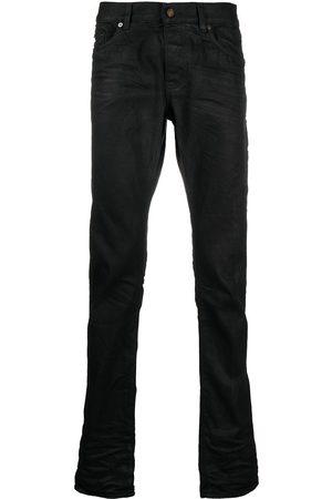 Saint Laurent Hombre Rectos - Jeans rectos con tiro alto