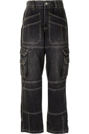 Ground Zero Jeans rectos con tiro alto