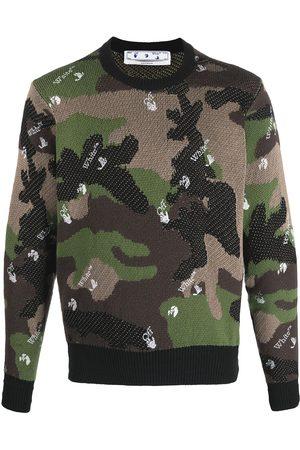 Off-White Hombre Suéteres - Suéter con estampado militar