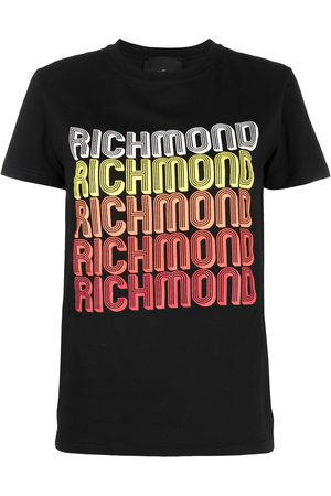 John Richmond Mujer Playeras - Playera con logo estampado