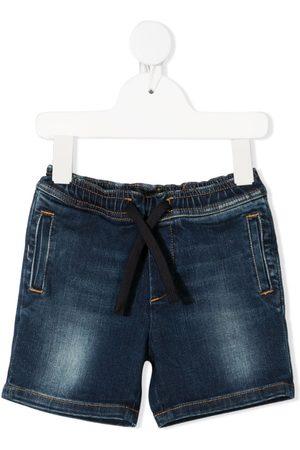 Dolce & Gabbana De mezclilla - Shorts de mezclilla con cordones en la pretina