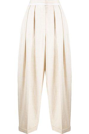Stella McCartney Pantalones anchos con tiro alto