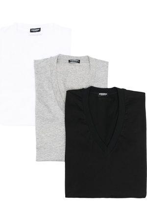 Dsquared2 Camiseta con cuello en V y logo