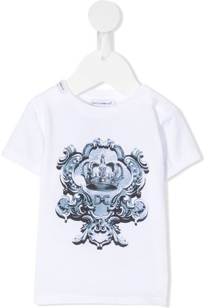 Dolce & Gabbana Playeras - Playera con logo y corona estampada