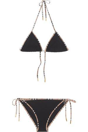 Burberry Bikini con ribete con motivo Vintage Check