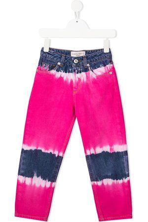 Alberta Ferretti Niña Jeans - Jeans rectos con estampado tie-dye