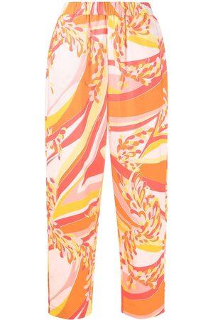 Emilio Pucci Pantalones holgados con estampado abstracto