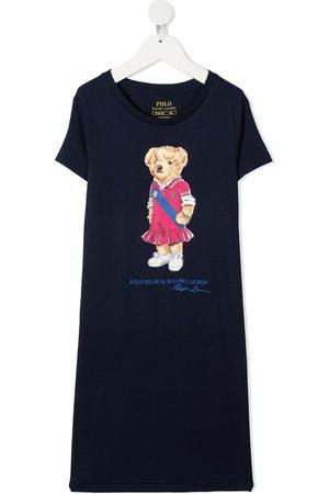 Ralph Lauren Vestido estilo camiseta con motivo Polo Bear