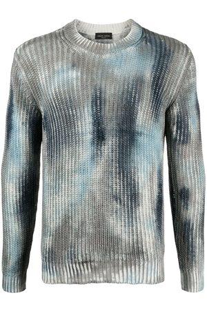 Roberto Collina Suéter de canalé con efecto pintado