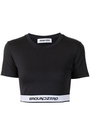 Ground Zero Camisa corta con logo en el dobladillo